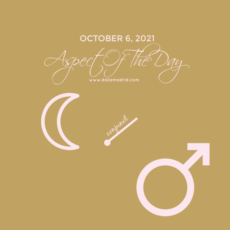 New Moon conjuncts Mars onOctober 6, 2021