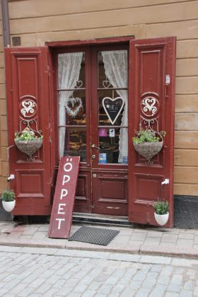 Cute shops on every corner - that's Stockholm, too