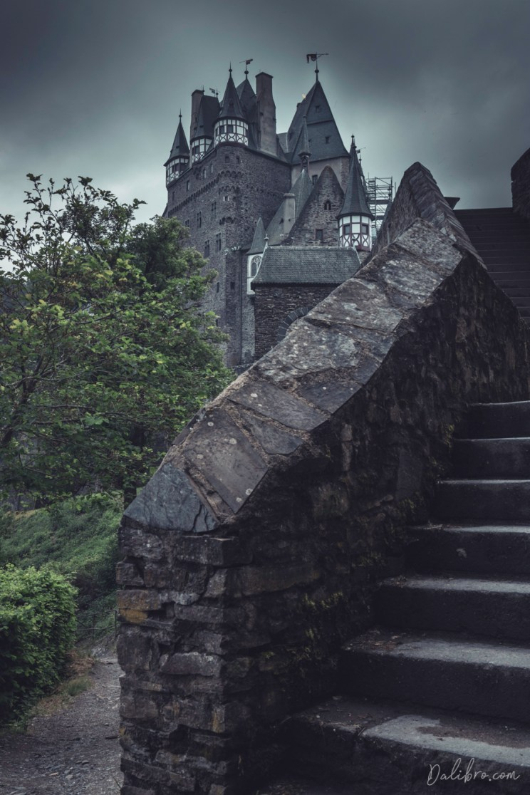 Below the staircase of Castle Eltz