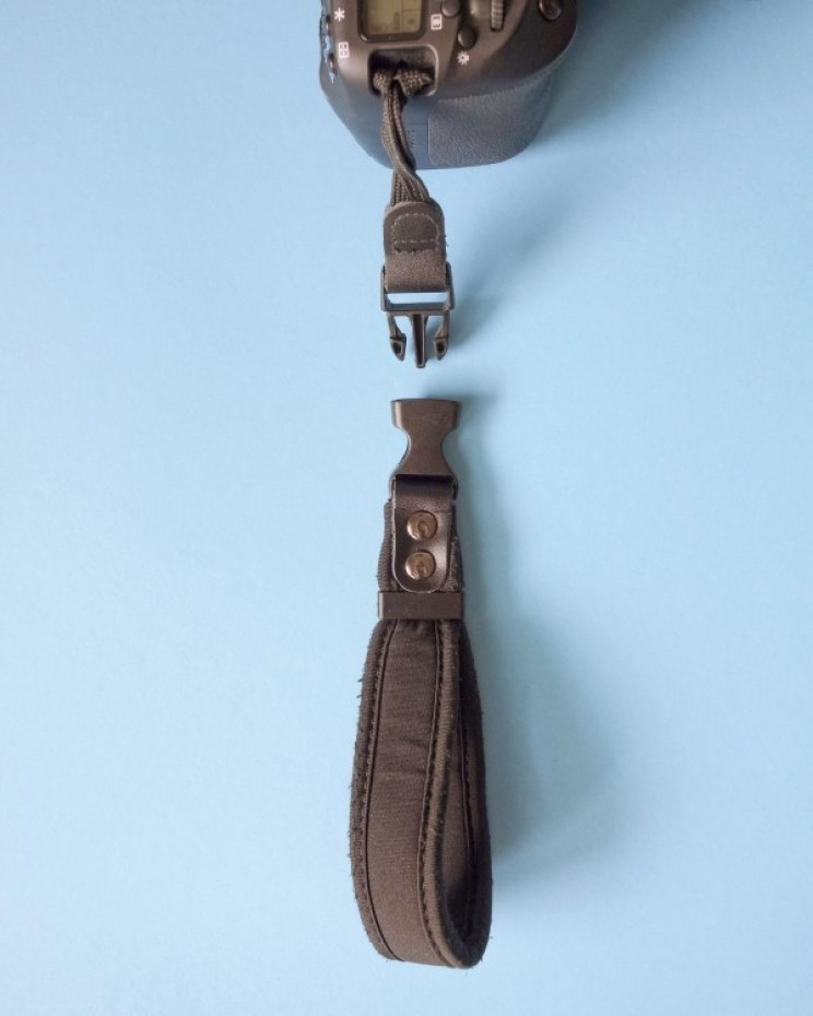 A detachable camera hand strap is an essential part of my camera equipment. It is light, easy to use and you can leave the short part on when shooting with tripod.