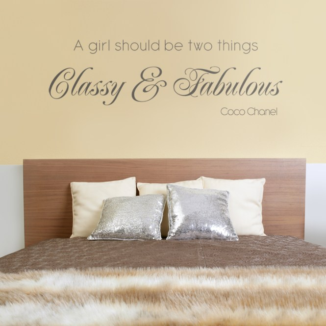 Cly Fabulous Quote Wall Decals