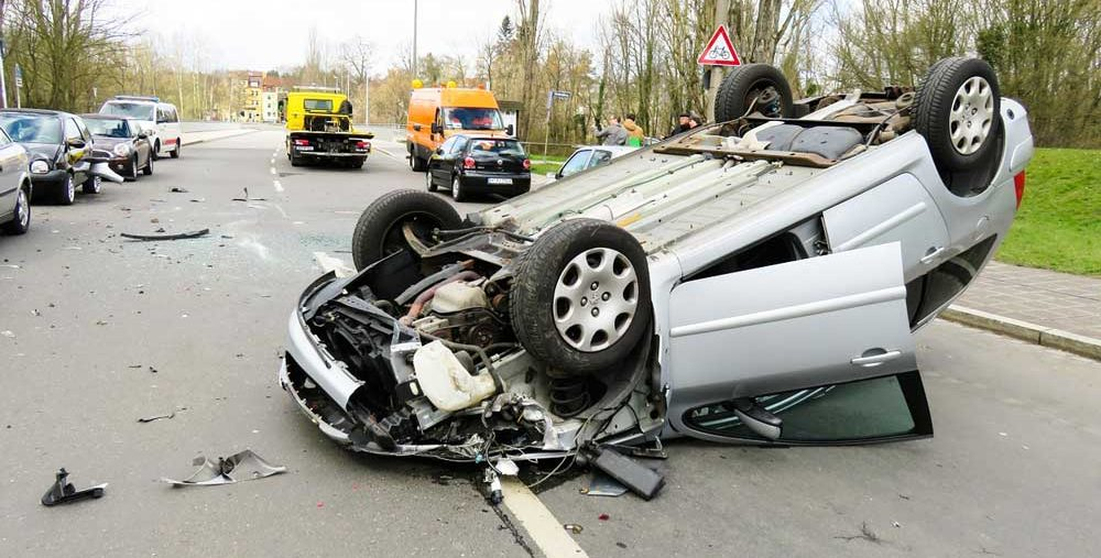Auto accident requiring Medical car after an accident in Dallas
