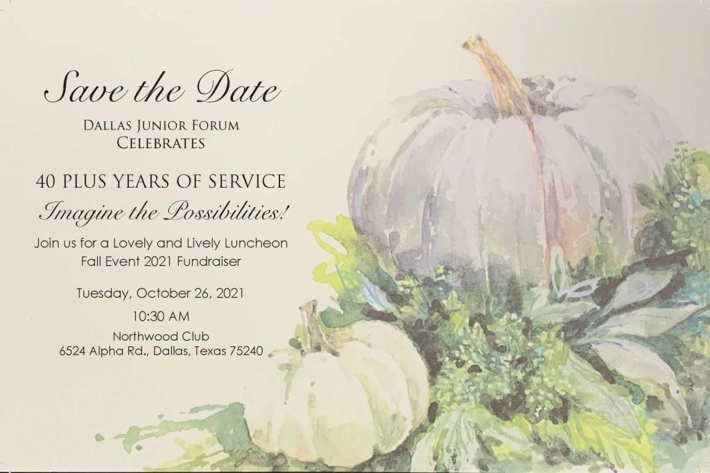 Save the Date: DJF Fall Event October 26, 2021