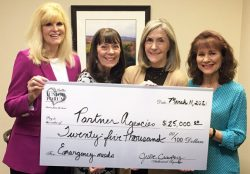 Dallas Junior Forum gives monies to their partner agencies to help them recover from the recent winter storm.