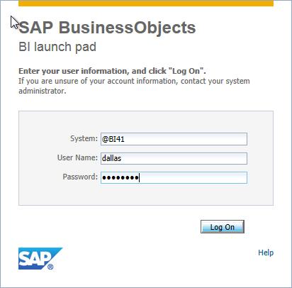 SAP BI Launch Pad customization