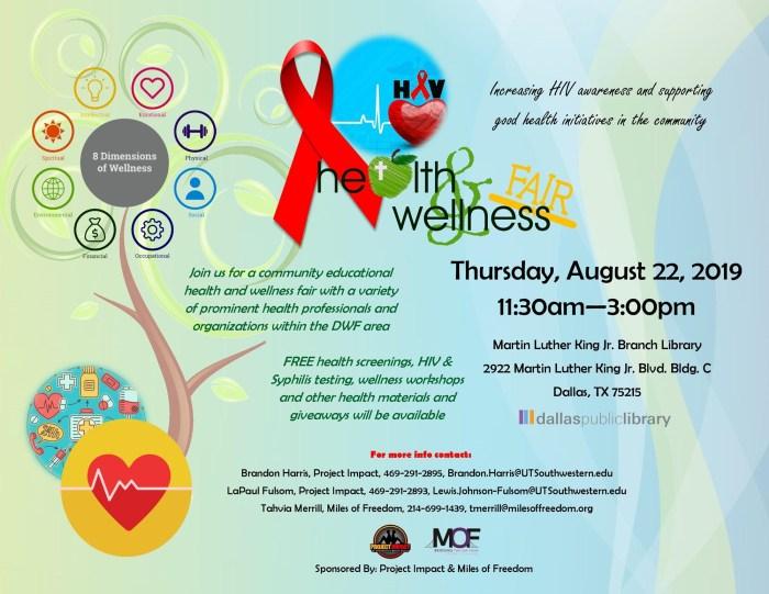 HIV Health & Wellness Fair @ MLK Branch Library
