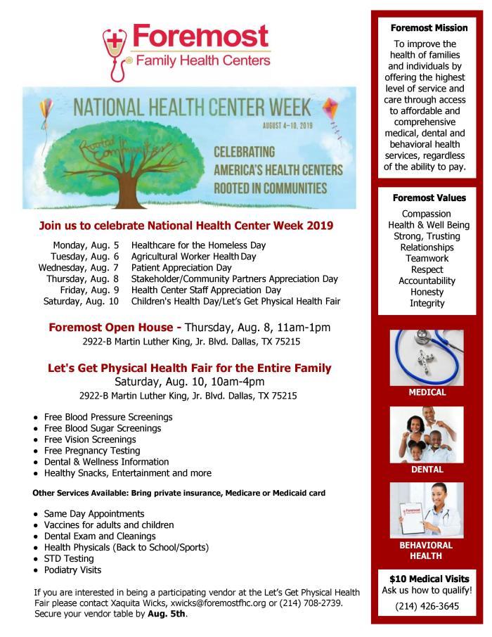 Let's Get Physical Health Fair @ MLK, Jr. Community Center