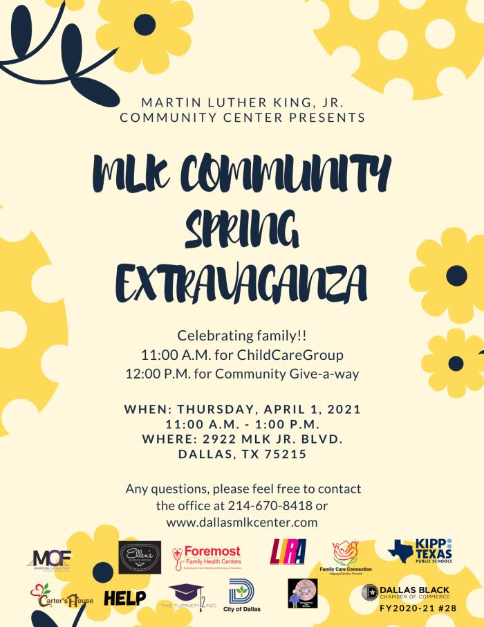 Spring Extravaganza @ The MLK, Jr. Community Center