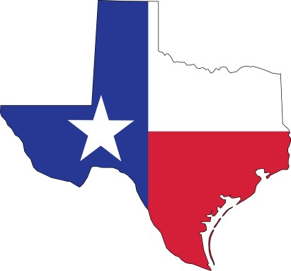 Free Clipart Of A texas flag map