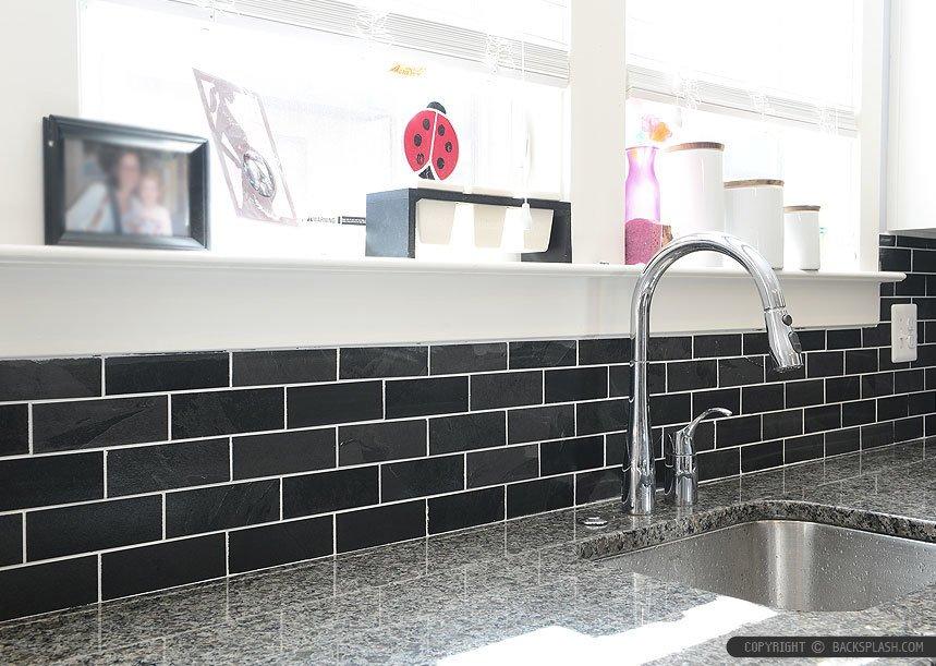 Black-Slate-Backsplash-Tile-New-Caledonia-Granite
