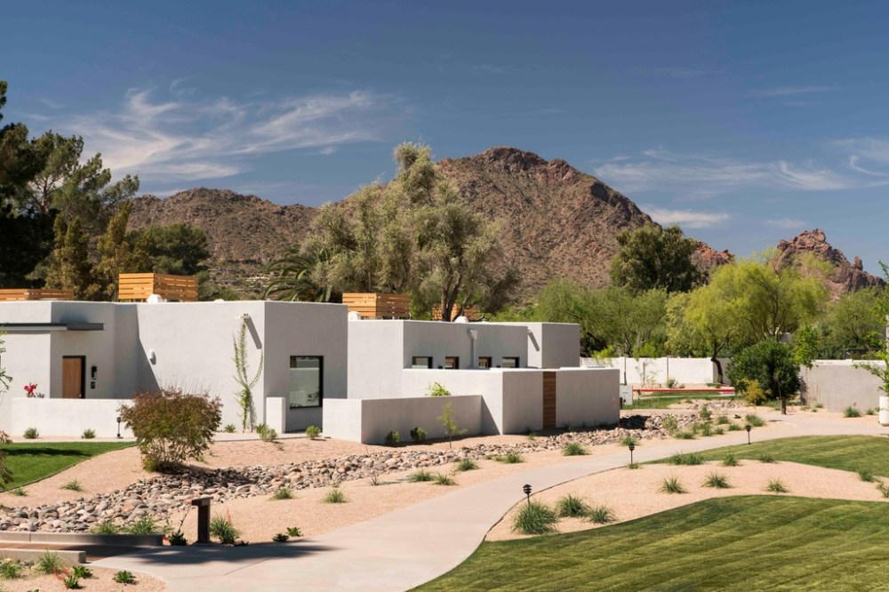 The Andaz Scottsdale Resort & Spa is cushioned up to iconic Camelback Mountain in Scottsdale, Ariz.(Don Riddle)