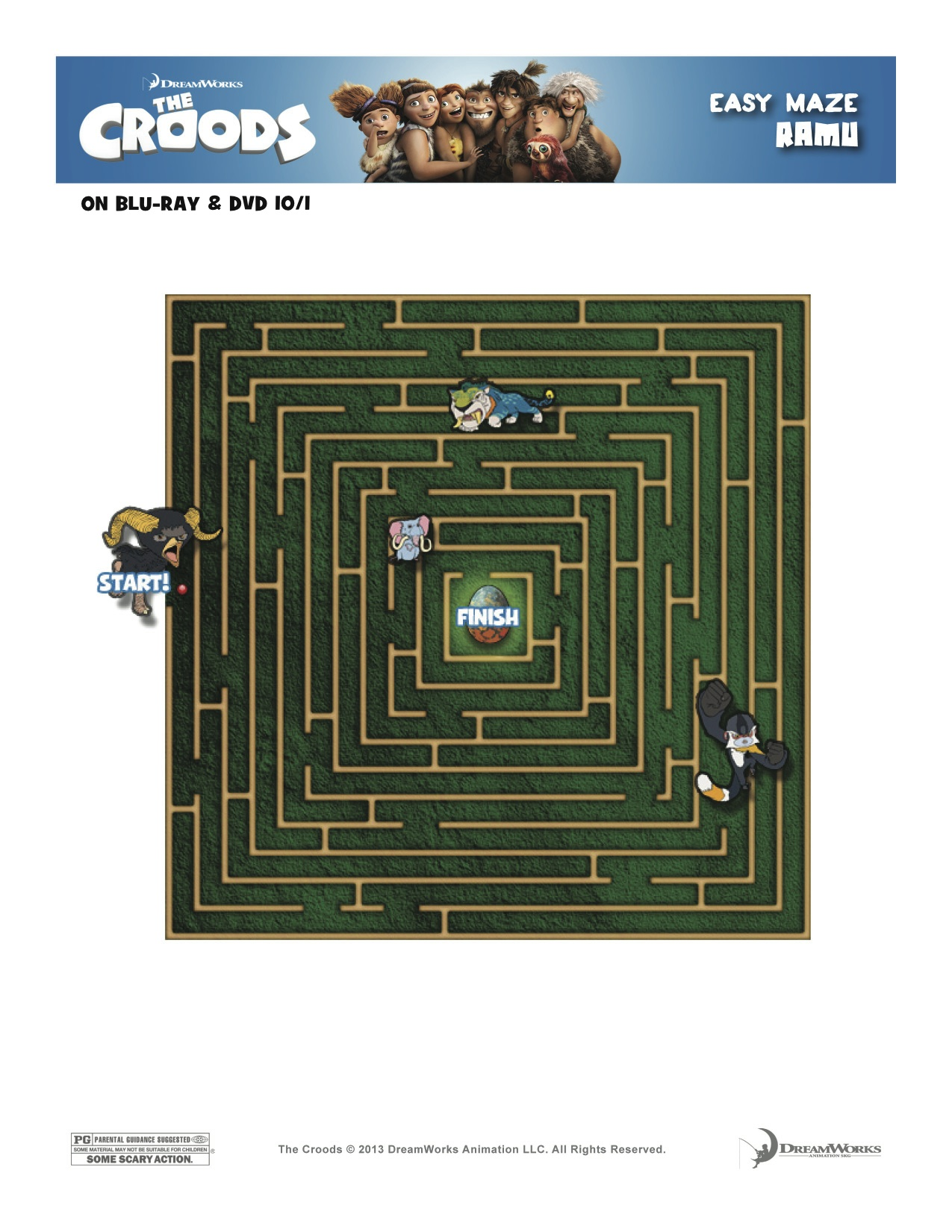 Free Printables The Croods Maze And Connect The Dots Thecroodsdvd Dallas Single Mom
