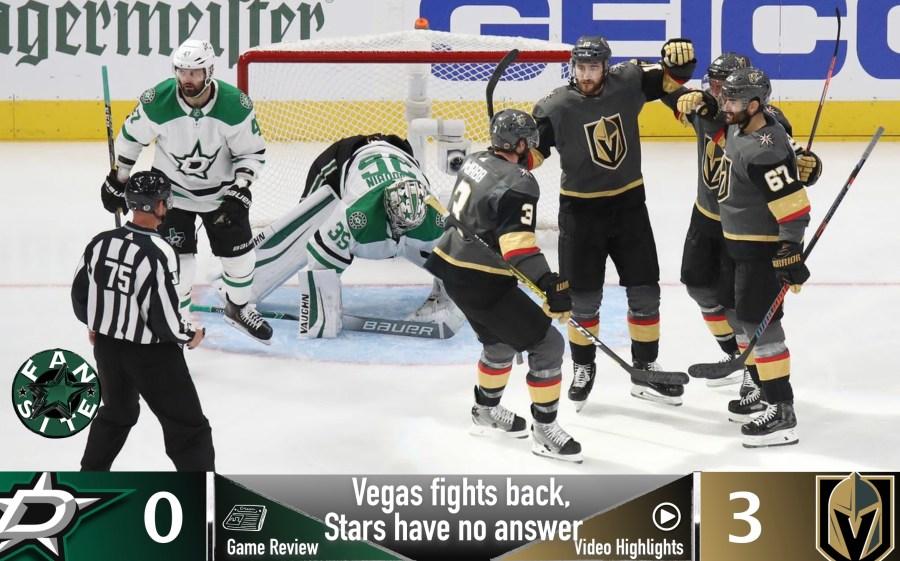 Dallas Stars vs Vegas Golden Knights, Game 2