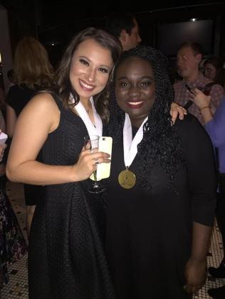 Kaiden with her roomate, Amina Faye (Amina won Best Actress at the NHSMTAs)