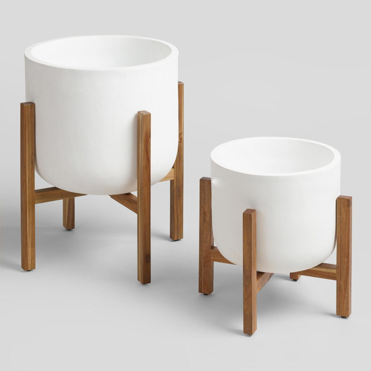 Elevated White Planter