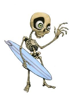 surfer skeleton 2