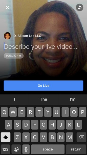 Are you using Facebook Live? | DAllisonLee.com
