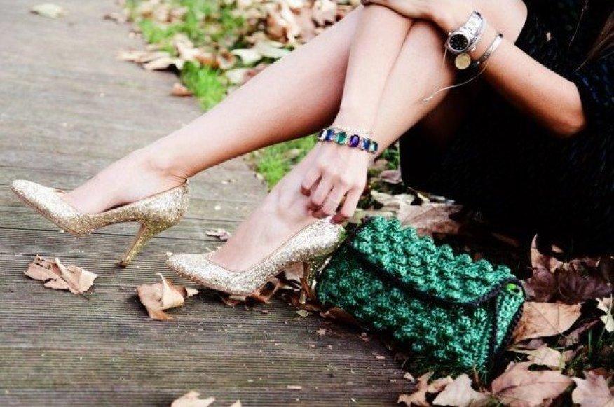 Women's Golden Sparkly Heels Prom Stiletto Pump Shoes