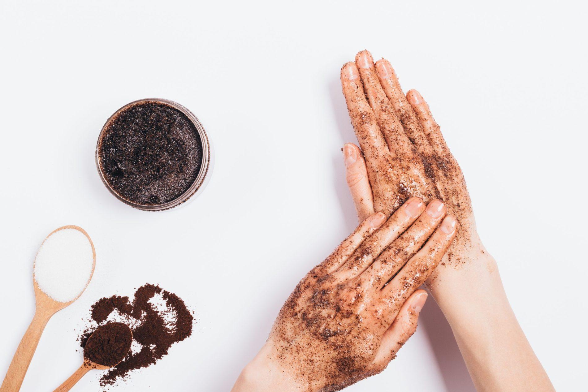 DIY Coffee Body Scrub with Sugar and Coconut Oil