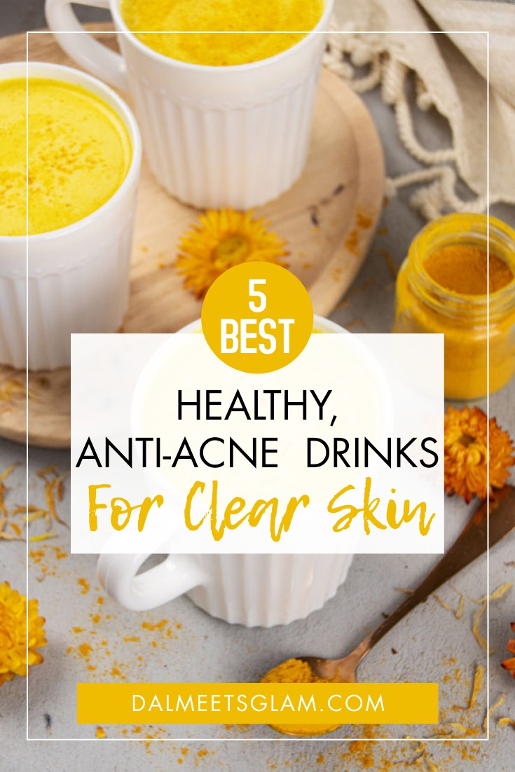 5 Best Drinks for Clear & Glowing Skin- No Acne!