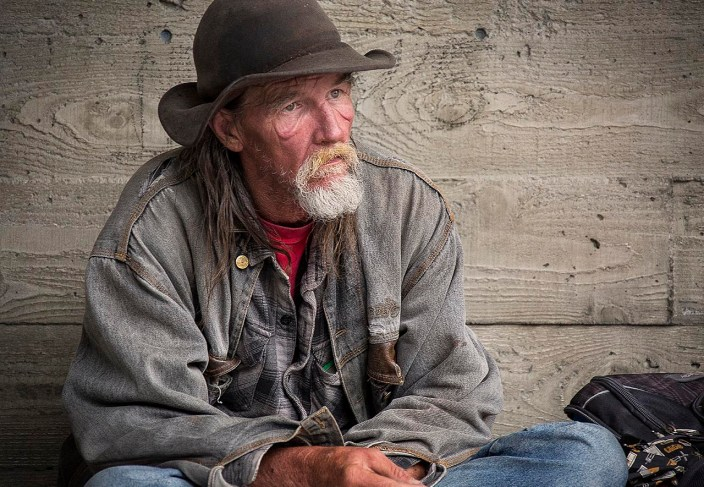 Homeless man, Seattle