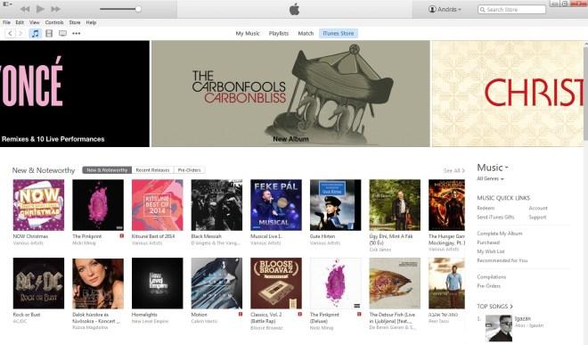 iTunes kiemelés