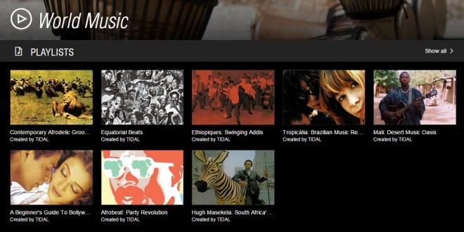 A Tidal kurátorai által összeállított listák például  zenetörténeti bevezetőkkel szolgálnak