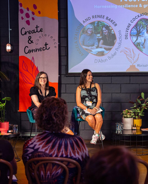 Create + Connect 2021 Angela D'Alton Renee Baker Panel