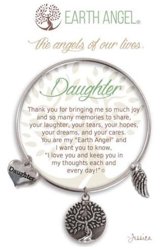 "Earth Angels Charm Bracelet ""Daughter"""