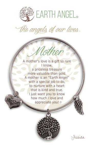 "Earth Angel Charm Bracelet ""Mother"" Antique Silver"