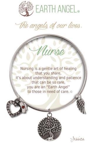 "Earth Angel Charm Bracelet ""Nurse"""