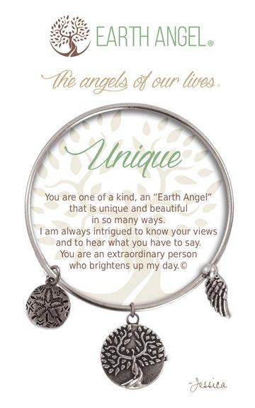 """Earth Angels Charm Bracelet """"Unique"""" Antique Silver"""