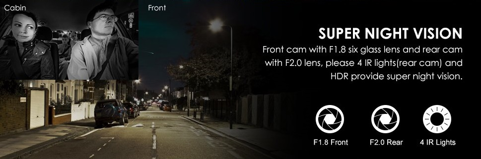 Dash Cam Night Vision