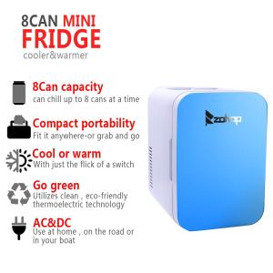 8-Can mini fridge