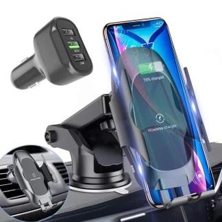 Wireless car phone mount