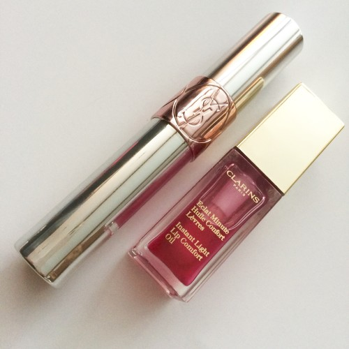 YSL Volupté Tint-In-Oil and Clarins Instant Light Lip Comfort Oil