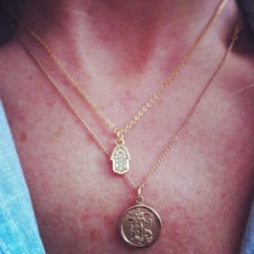 Gage Huntley hamsa necklace