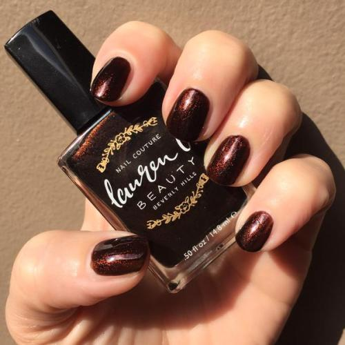 Lauren B Beauty Espresso on 3rd nail polish