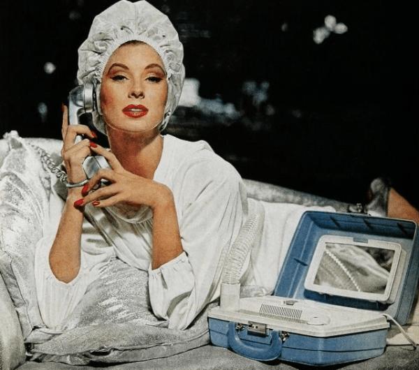 dalybeauty vintage hair dryer ad