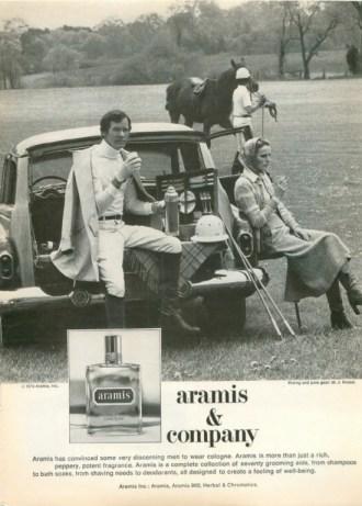 aramis cologne ad vintage