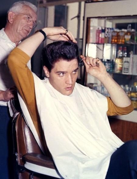 elvis barber comb hair slick
