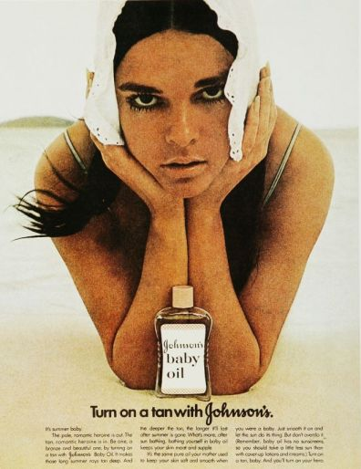 johnsons baby oil ad ali mcgraw