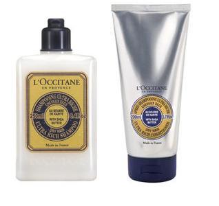 l'occitane shea butter shampoo and conditioner