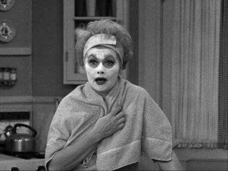 lucille ball face mask