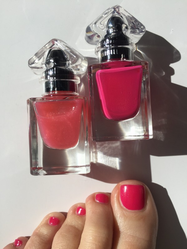 Guerlain Petite Robe Noire Pink Tie and My First Nail Polish pedi