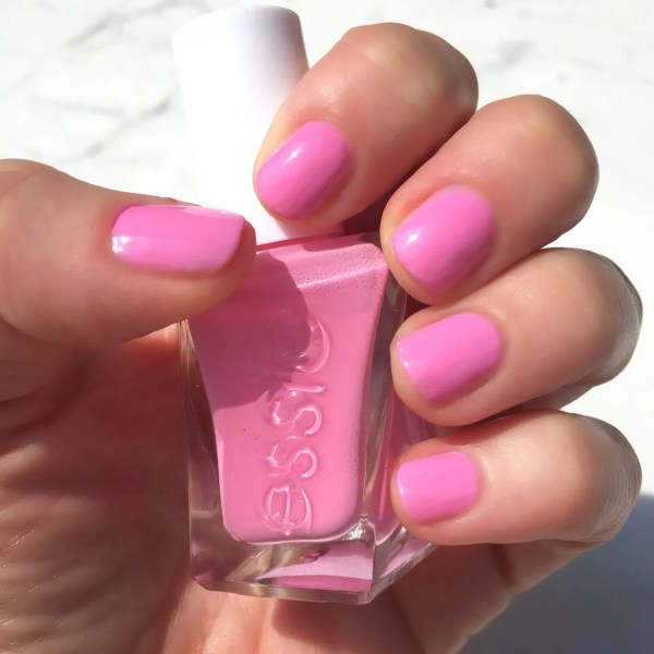 "Essie Gel Couture ""haute to trot"" is literally the perfect Barbie-bubblegum pink. ADORE"