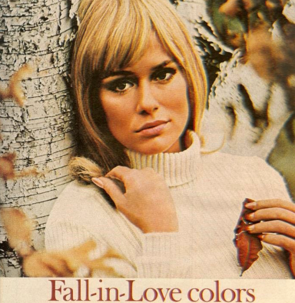 vintage beauty ad fall autumn