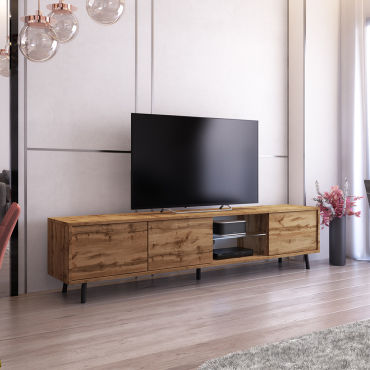 meuble tv galhad 175 cm chene wotan eclairage led n54117239