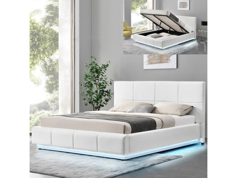 lit design alexi avec sommier et coffre