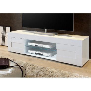 meuble tv design 180 cm daisy coloris blanc g87825127